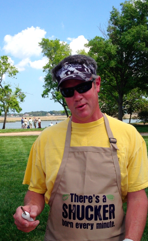 Chris challenges you to join the Oyster Shucking Contest this year