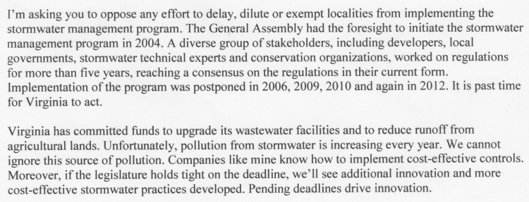 VaAssemblyStormWaterLetter-Jan2014
